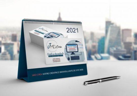 Calendrier Un cadeau à faire à vos client en fin d'année permettant de véhiculer votre image et vos valeurs.